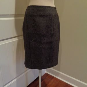 T Tahari Brown Skirt with Back Zipper Feature EUC